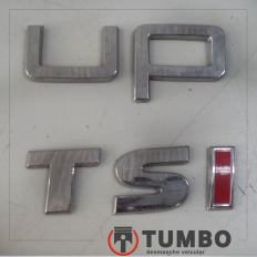 Letras da tampa traseira do VW UP 1.0 TSI
