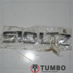 Letras S10 LTZ da tampa traseira da S10 LTZ 2.4 Flex 2012/2015