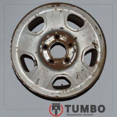 Roda de ferro da S10 até 2011 Aro 15 prata lisa