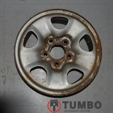 Roda de ferro da S10 Aro 15 prata com gomo
