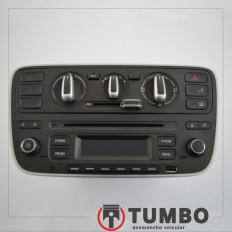 Rádio com comando do ar condicionado do VW UP Speed 2017 TSI
