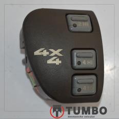 Botão comando da tração 4x4 com detalhes da S10 2001/2011