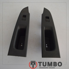 Par de molduras com botão de vidro elétrico tras. direito e esquerdo da Trailblazer LTZ