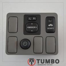 Acabamento com botões espelho elétrico alarme da Hilux 09/10 3.0 163cv Autom.