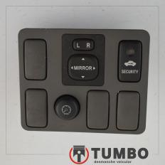 Acabamento botões espelho elétrico alarme da Hilux 2012/... 3.0 171cv 4x4