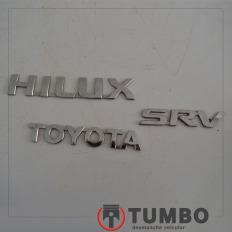 Conjunto de emblema da tampa traseira da Hilux 3.0 05/06 4x4